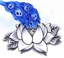 Lotus and skullfire by jerrrroen