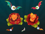 Digital roses, eyebal n sitch