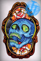 Stained glass tattoo design