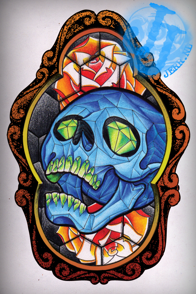 Stained Glass Tattoo Design By Jerrrroen On Deviantart