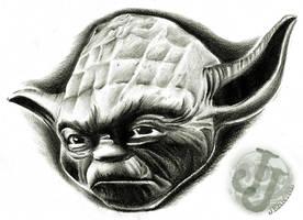 Yoda portrait by jerrrroen