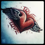 True love tattoo design