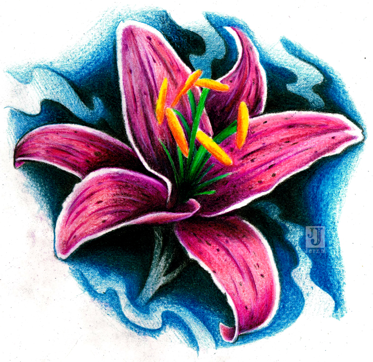Lily tattoo design by