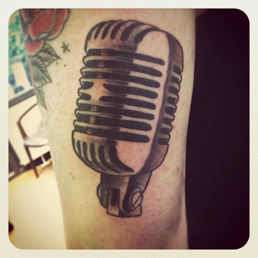old school mic by jerrrroen on deviantart rh jerrrroen deviantart com old school microphone traditional tattoo old school microphone tattoo meaning