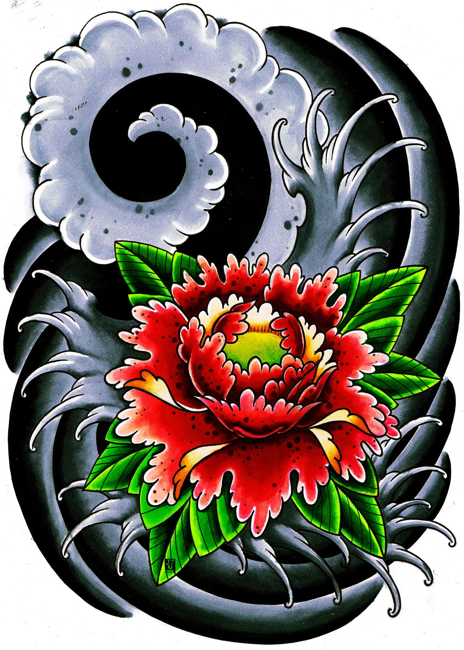 japanese flower thingy by jerrrroen on deviantart. Black Bedroom Furniture Sets. Home Design Ideas