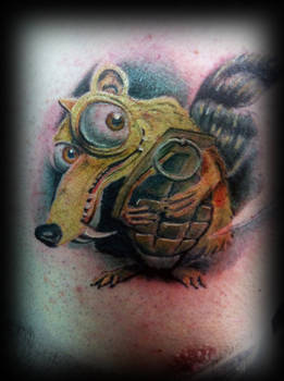 Scrat tattoo ice age by jerrrroen