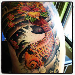 japanese koi rib piece 1 by jerrrroen