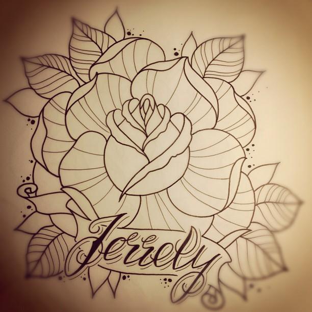 rose sketch by jerrrroen