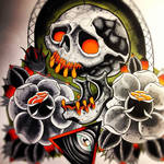 skull roses allseeing eye