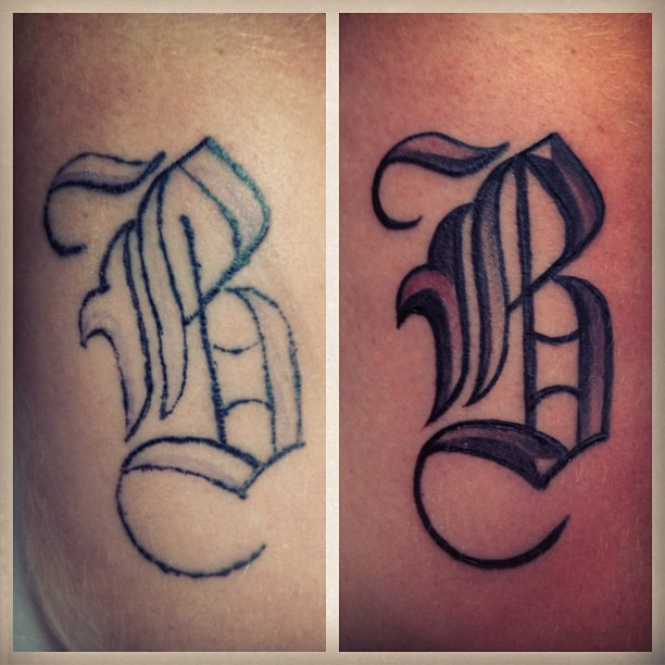 Coverup Tattoo Lettering By Jerrrroen