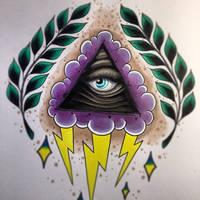 all seeing eye sketch by jerrrroen