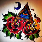 all seeing eye candle rose