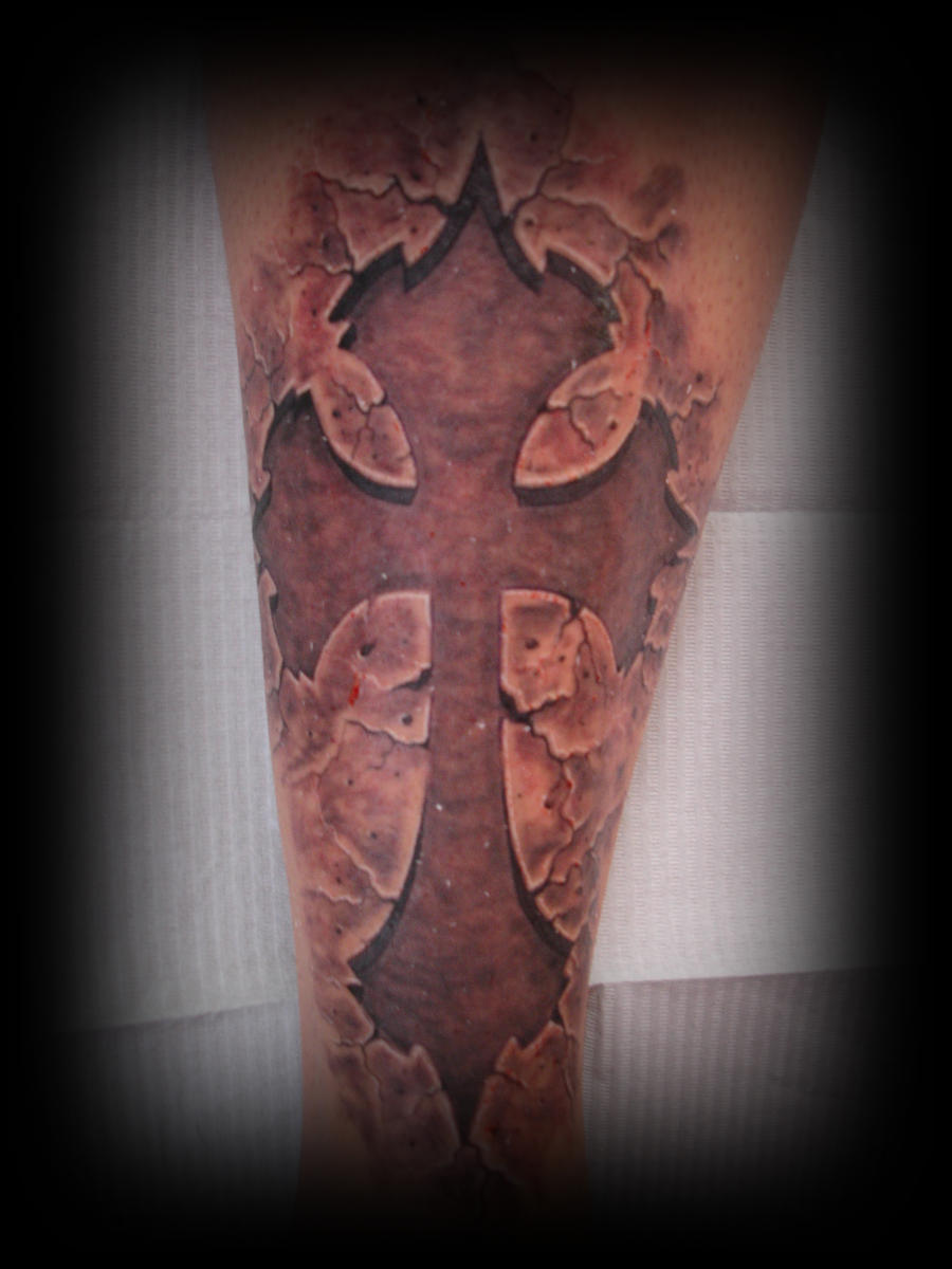 cross tattoo by SeanStracener