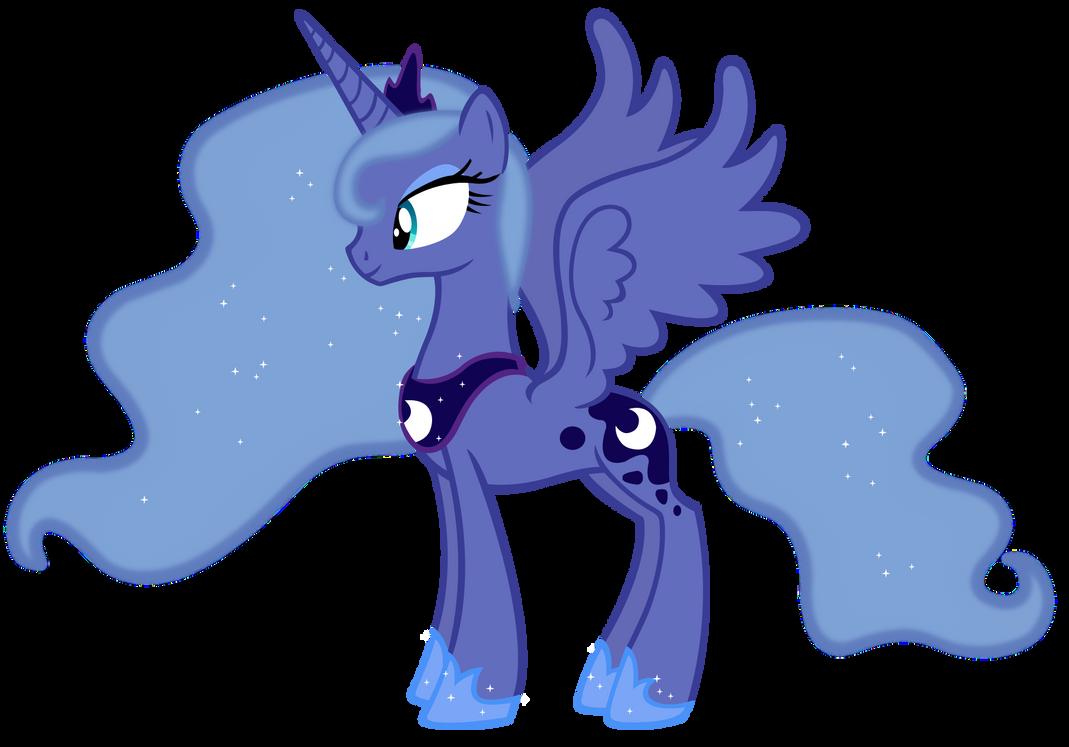 Princess Luna Season 1 Colors Vector By Durpy On Deviantart