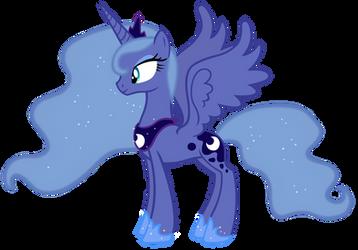 Princess Luna Season 1 colors vector by Durpy