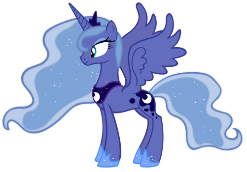 Princess Luna Season 1 colors vector