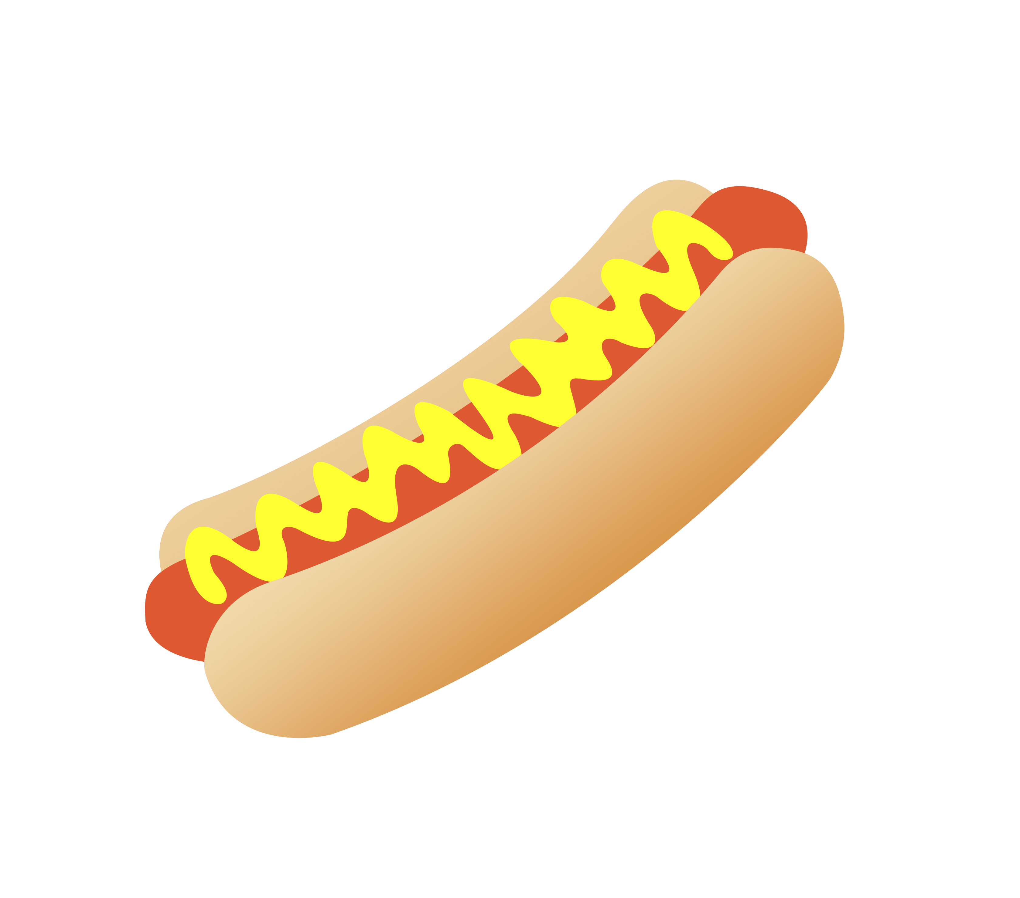 Hot Dog Clipart Black And White Cute