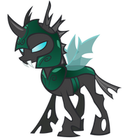 Changeling vector (Green Comic Armor) by Durpy