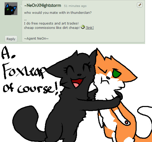 Warrior Cats Hollyleaf And Breezepelt Fanfiction Question #13 by Ask-Ho...