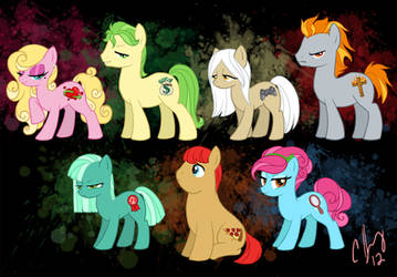 Seven Deadly Sins My Little Pony Style by Candy-Janney