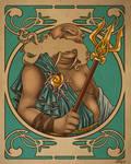 Greek Gods: Poseidon Colored