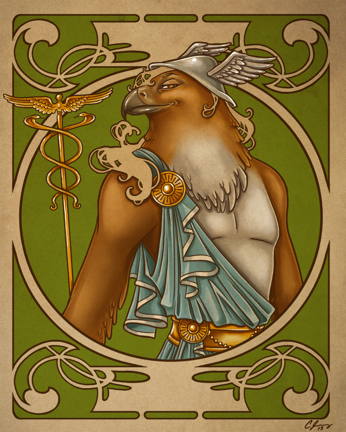 Greek Gods: Hermes Colored by Candy-Janney