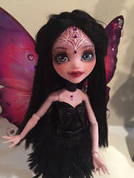 OOAK Monster High Repaint Faceup Odile Draculaura by Candy-Janney
