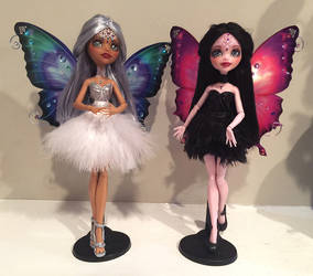 OOAK Custom Monster High Odette and Odile by Candy-Janney