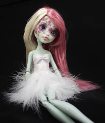 Monster High Frankie Stein Repaint Faceup by Candy-Janney