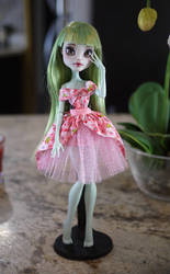 Monster High Frankie Stein Faceup Repaint by Candy-Janney