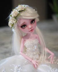 Monster High Faceup Repaint Draculaura Bride by Candy-Janney