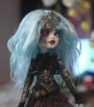 Monster High Faceup Repaint Frankie Stein Rhyna