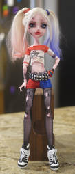 Harley Quinn Monster High Faceup by Candy-Janney