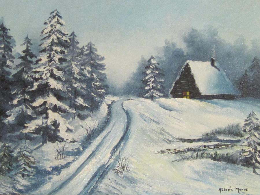 Winter Cabin By Sassanik