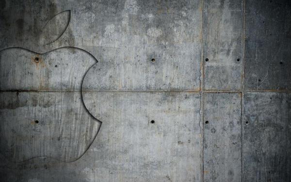 Concrete Apple wallpaper by JarekZ