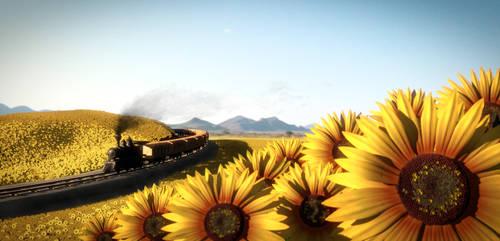 Sunflowers Landscape by zabaz