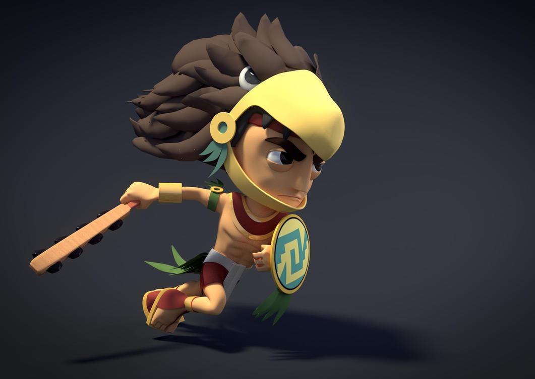 Aztec Xilo to the battlefield by zabaz