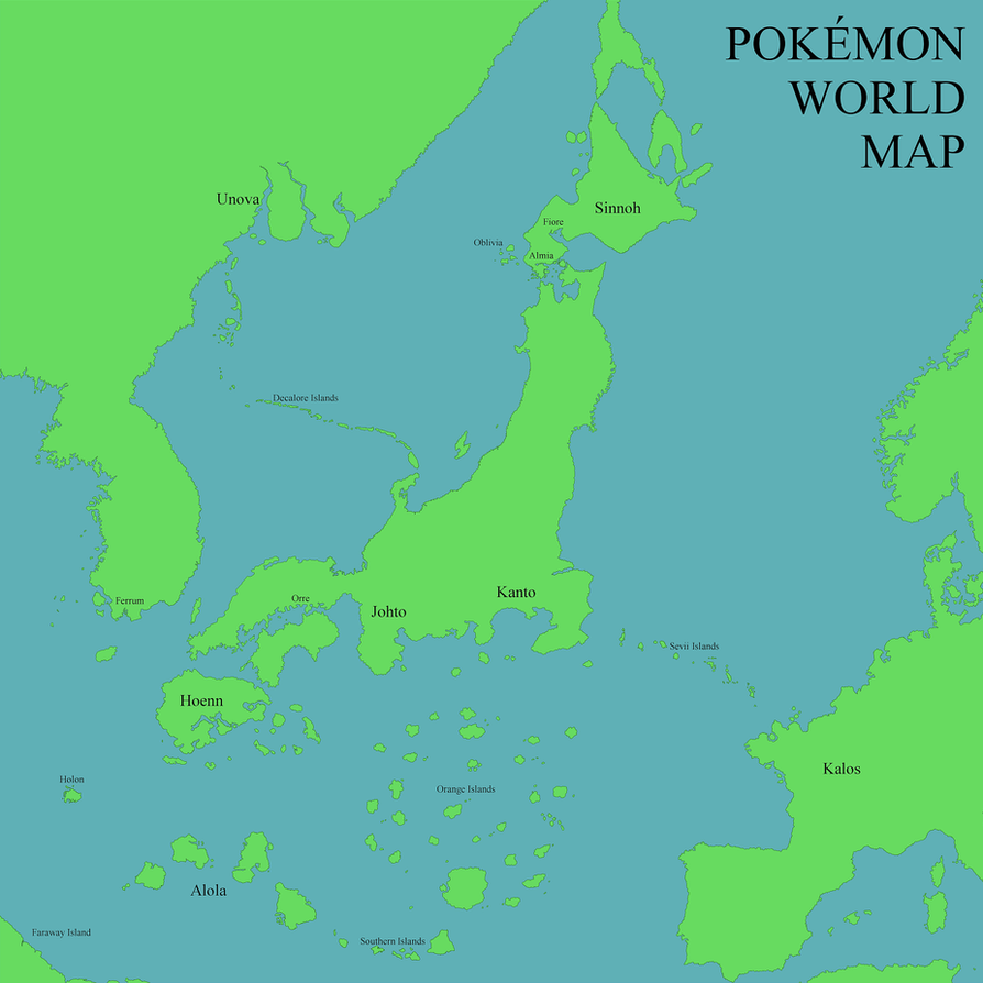 Pokemon World Map by colinouveau on DeviantArt
