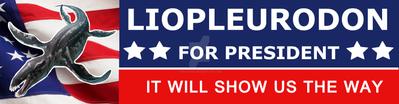 Liopleurodon For President by circuitRx