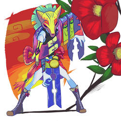 Tsubaki, the rising warrior by Naumimi