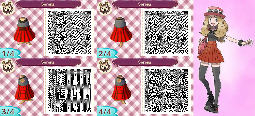 Animal Crossing New Leaf  Serena cosplay by NevasariniQr Codes Animal Crossing New Leaf Pokemon