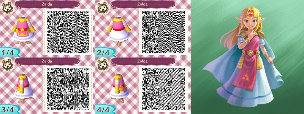 Qr Codes Animal Crossing New Leaf Zelda Flag