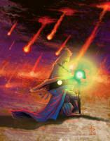 Black Mage Gerbil - Meteor by Ultyzarus