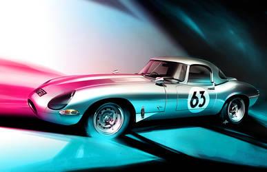 Jaguar E Type - Lightweight Illustration