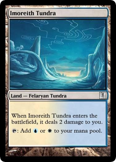 Felaryan Dual Land: Imoreith Tundra by Jakethecardsculptor on ...