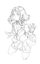 Boku no hero academia - Uraraka sketch for tattoo!