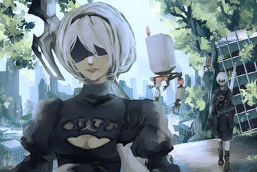 2b and 9s by EmarieChi