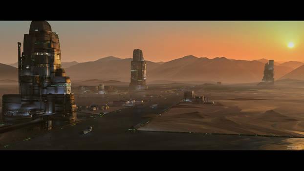 Mars Base Sunset