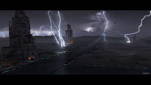Mars Base Lightning