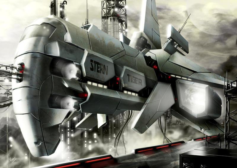 spaceship stern tiger by ptitvinc